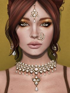 Glam Affair for Fifty Linden Friday and body appliers for The Mesh project body from The Shops.