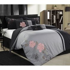 Roxy samantha floral comforter set by roxy body pillows comforter