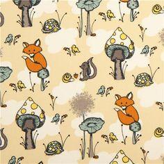 169581 beige birch organic fabric from the