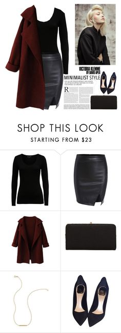 """""""minimalist style"""" by lushxoxo ❤ liked on Polyvore featuring French Connection, Urban Expressions, Wish by Amanda Rose and Christian Dior"""