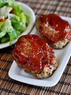 Meatloaf best ever mini meat loaves glazed