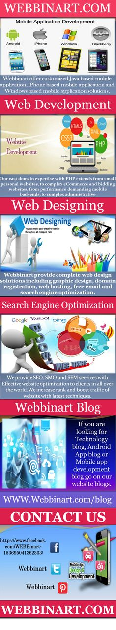 Webbinart provide complete web design solutions including graphic design, domain registration, web hosting, free email and search engine optimization. Our specialty services feature flash multimedia, print graphics, online marketing, web promotions, technical support and e-commerce. Technically, our web design services include creation of high quality design/layout creation using Photoshop, PSD to Joomla, PSD to CSS/XHTML and PSD to CMS (e.g. Joomla, WordPress).