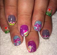 Easter nails 1step gel polish