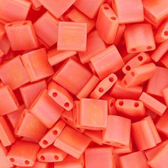 Opaque Matte Dark Orange Rainbow 2 Hole Tila Seed Beads by Miyuki #inspirationinbloom