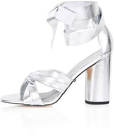 Womens silver rosetta soft knot shoe from Topshop - £56 at ClothingByColour.com