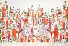 R u s s i a   Backdrop for The Ballet Russes' Firebird designed in 1929 by the artist Natalie Gontcharova.