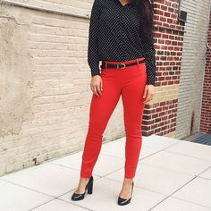 J. Crew Red-Orange Minnie Pant Gorgeous Red-Orange Minnie Pant. In excellent condition. Size 0 Tall. NO Trades. Please make all offers through offer button. J. Crew Pants Skinny