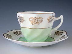 Crownford Tea Cup and Saucer Teacup Set Made by TeacupsAndOldLace