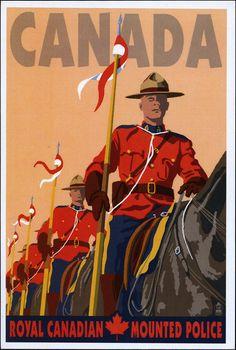 Vintage Mountie Postcard
