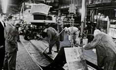 Workers Tear Up Steel Conveyor Belt as Last Packard Travels Down Assembly Line Dada Artists, Social Themes, French Press Coffee Maker, Cold Brew Coffee Maker, Assembly Line, Real Coffee, Classic Italian, Women In History, Water Crafts