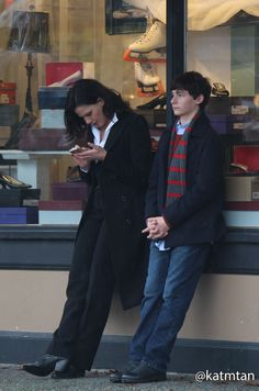 Lana and Jared on the set - 4 * 10 Behind the scenes. 22 October 2014