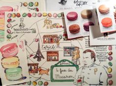 paris breakfasts: Prepping for Jour du Macarons and the March Macaron Map