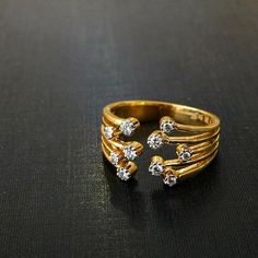 GABRIELLE'S AMAZING FANTASY CLOSET | 18k Yellow Gold Ring with Diamond Accents