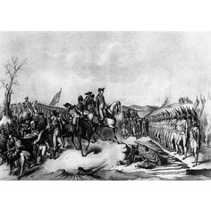 Surrender of Hessian Troops to Washington (After Battle of Trenton) Art Poster Print