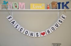 NFL Banner - house banner - FALCONS house on Etsy, $15.50