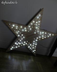 ETOILE BOIS LUMIERE GUIRLANDE Stephanie Bricole, Decoration, Diy For Kids, Diy Projects, Bois Diy, Blog, Bricolage Noel, Christmas Stuff, Odd Stuff