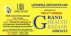Livewell Initiative invites you to Grand Health Bazaar 2015..