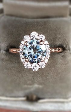 stunning diamond rose gold engagement ring for 2018 #weddingring