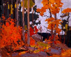 Tom Thomson - Autumn, Algonquin Park - Canada, Canadian Oil Painting - Group of Seven Art Print by artexpressiondesign Group Of Seven Artists, Group Of Seven Paintings, Landscape Tattoo, Abstract Landscape, Landscape Paintings, Acrylic Paintings, Canadian Painters, Canadian Artists, Tom Thomson Paintings