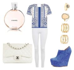 """""""Untitled #34"""" by mari3tta ❤ liked on Polyvore featuring Topshop, River Island, LULUS and Chanel"""