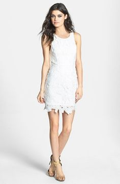 ASTR Textured Floral Body-Con Dress