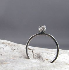 Rough Diamond Sterling Silver Ring by Sunyata