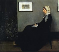 James Abbott McNeill WhistlerArrangement in Grey and Black: Portrait of the Artists Mother 1871Oil on canvas 56.75 x 64 in. Musée dOrsay, Paris  In ... James whistler #America #painting