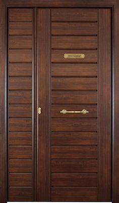 Puertas Exterior y Puertas Acorazadas Madrid y Toledo   Puertas Camino Single Door Design, Wooden Front Door Design, Double Door Design, Wooden Front Doors, Modern Entrance Door, Modern Wooden Doors, Drawing Room Interior Design, Door Design Interior, Indian Main Door Designs
