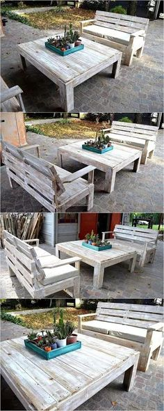 DIY Pallet Projects -  Pallet Outdoor Furniture Ideas  Outdoor