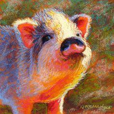 "Daily Paintworks - ""Petunia"" by Rita Kirkman"