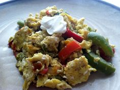Low Carb Layla: Peppers and Onions Egg Scramble