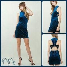 Selling this Neena Blue Velvet in my Poshmark closet! My username is: prim_and_prissy. #shopmycloset #poshmark #fashion #shopping #style #forsale #@Prim&Prissy  #Dresses & Skirts
