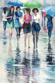Discover Original Art by Stanislav Sidorov | It's Just the Rain oil painting…