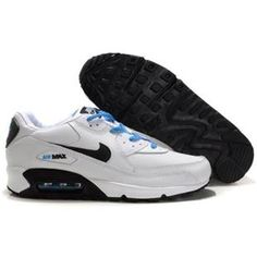 http://www.asneakers4u.com/ 309299 040 Nike Air Max 90 White Black Blue D05059