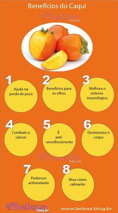 #Fruta ☆ Caqui ☆ Benefícios do #Caqui ☆
