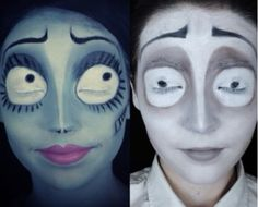 The Corpse Bride: Emily & Victor Makeup Tutorial (Halloween)