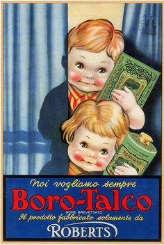 Vintage Italian Posters ~ #illustrator #Italian #posters ~ Borotalco Italian Product