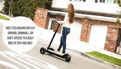 CycleBoard: a three-wheeled electric scooter is close to reaching its Kickstarter goal ($70K). Good stability though heavy at 42 pounds.