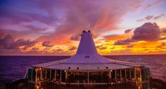 Perks of sailing in #Tahiti - unforgettable sunsets! #pgcruises