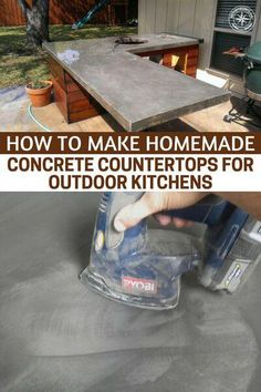 How To Make Homemade Concrete Countertops For Outdoor Kitchens - The mastery of . - How To Make Homemade Concrete Countertops For Outdoor Kitchens – The mastery of things like wood, - Making Concrete Countertops, Outdoor Kitchen Countertops, Diy Outdoor Kitchen, Diy Kitchen, Outdoor Kitchens, Awesome Kitchen, Kitchen Reno, Building An Outdoor Kitchen, Out Door Kitchen Ideas