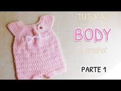 This tutorial will show you how to crochet a cute baby romper / onesie. For size 0 - 3 months use a crochet hook. Crochet Bebe, Crochet For Kids, Crochet Hooks, Knit Crochet, Crochet Winter, Crochet Hair, Crochet Flower, Crochet Cardigan Pattern, Crochet Blouse
