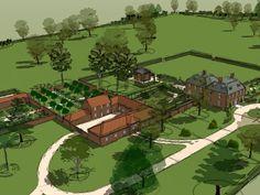 Designs | Projects | Richard Miers - Garden Design Designs To Draw, Design Projects, Garden Design, Country, Drawings, Art, Art Background, Rural Area, Kunst