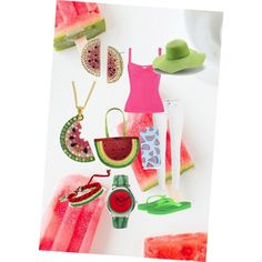 summer melon by tabitha-renee-peace on Polyvore featuring polyvore fashion style Valentino Paige Denim Havaianas ASOS Betsey Johnson Peter Grimm Topshop