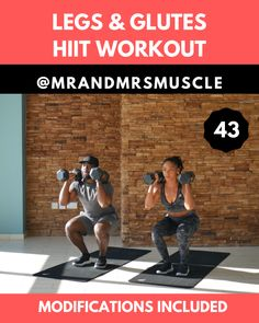 Legs & Glutes HIIT Workout Legs & Glutes HIIT Workout,Health and Fitness Burpee variation with weights build strength and muscle in your upper and lower body. Fitness Workouts, Full Body Hiit Workout, Gym Workout Tips, Butt Workout, Workout Videos, Lower Body Workouts, Body Fitness, Fitness Goals, Fitness Motivation