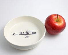 Quadratic Equation Math Bowl in Black and White. $26,00, via Etsy.