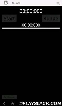 Stopwatch (Timewatch)  Android App - playslack.com , The stopwatch app, the time can easily be intuitive and accurate stopped in simple black design.functions:- Languages: German, EnglishRound display- Time of the last round- Elapsed time- Accurate to 1/1000 second- Up to 100 minutes (but it will soon be other functions)Stopwatch ideal for running, jogging, cooking, gym training or as a general purpose timer / stopwatch.Stopwatch was designed as a timer for runners, but there are certainly…