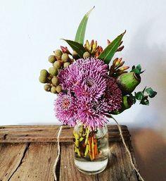Cute native posy jar Flowers In Jars, Home Flowers, Plants In Jars, Native Plants, Still Life, Nativity, Bloom, Engagement, Business