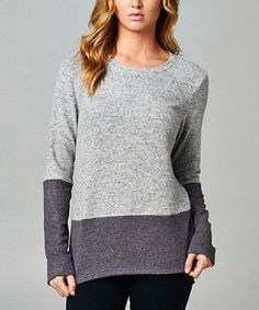 Another great find on #zulily! Gray & Charcoal Two-Tone Tunic #zulilyfinds
