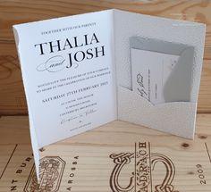 Pocket Wedding Invites: Classy Wedding Invitation Pocket Pearl Pebbles