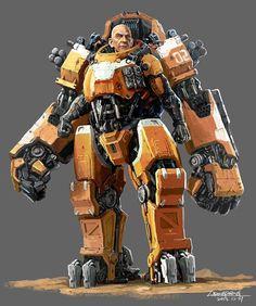 General by lidongsheng Robot Concept Art, Armor Concept, World Of Warcraft, Science Fiction, Mecha Suit, Sci Fi Models, Sci Fi Armor, Suit Of Armor, Cyberpunk Art